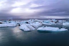 Isländsk vinter Arkivbild