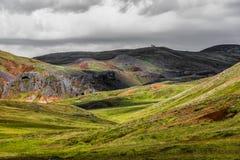 Isländska backar royaltyfri bild