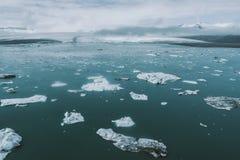 Isländska panoramor, flyg- sikt på länderna royaltyfri foto