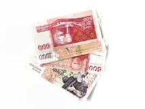 Isländska sedlar Arkivfoto