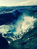 Isländska vattenfall Fotografering för Bildbyråer