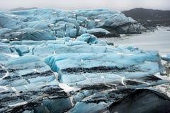 Isländskasikter - glaciär royaltyfria bilder