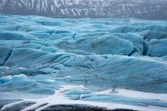 Isländskasikter - nära övre för glaciär arkivfoto