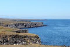 Isländskt kustlandskap. Royaltyfria Bilder