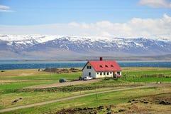 Isländskt landskap Arkivfoton