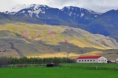 Isländskt landskap Arkivbilder