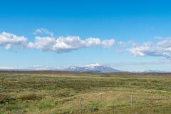 Isländskt landskap i sommar Fotografering för Bildbyråer