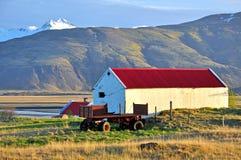 Isländskt lantgårdhus fotografering för bildbyråer