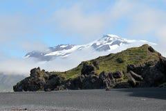 Isländskt sommarlandskap. Fotografering för Bildbyråer