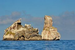 Isla一个火山岛Mexico's里维埃拉纳亚里特州的15英里沿岸航行的伊莎贝尔 免版税库存照片