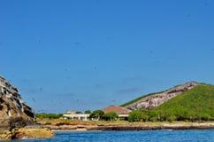 Isla伊莎贝尔在离Mexico's里维埃拉纳亚里特州海岸的附近 免版税库存照片