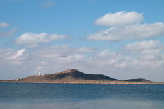 Isla男爵市长或台尔,在3月Menor, La Manga,西班牙 图库摄影
