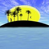 Isla abstracta ilustración del vector
