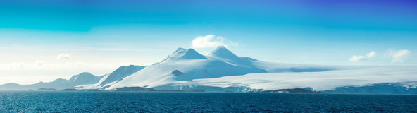Isla antártica del hielo. Islas de Orkney. Fotos de archivo