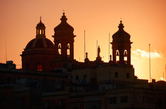 Isla Basilica at sunset, Senglea, Malta Stock Images