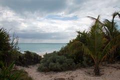 Isla Blanca Beach View Cancun Mexico Stock Photo