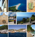 Isla Brac en Croatia fotografía de archivo