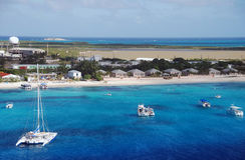 Isla caribeña fotografía de archivo