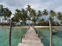 Isla caribeña Kuanidup grande Fotos de archivo
