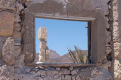 Isla Carmen Window Royalty Free Stock Photo