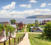 Isla-ciudad Sviyazhsk Kazan, Rusia imagen de archivo