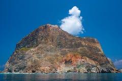 Isla colorida de la roca Foto de archivo
