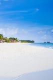 Isla con la playa Fotos de archivo
