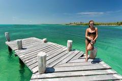 Isla Contoy en México Fotos de archivo