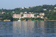 Isla Corfú, mar jónico, Grecia Fotos de archivo