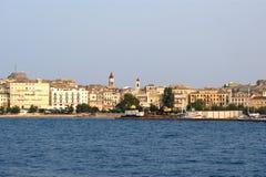 Isla Corfú, mar jónico, Grecia Imagen de archivo libre de regalías