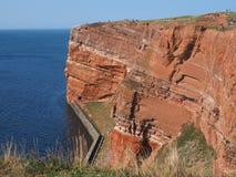 Isla costera Helgoland Fotos de archivo libres de regalías