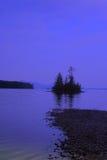 Isla crepuscular Imagenes de archivo
