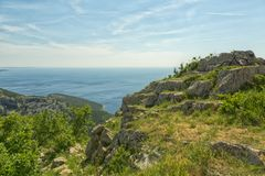 Isla Cres en el mar adriático Fotografía de archivo