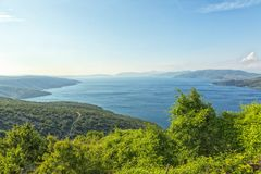 Isla Cres en el mar adriático, Croacia Imagen de archivo libre de regalías