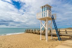 Isla Cristina, bagnino Tower Immagini Stock Libere da Diritti