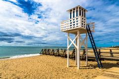 Isla Cristina, Lifeguard Tower. Isla Cristina is one of the most popular resorts on the Costa de la Luz in Huelva with many beaches to choose from Stock Photo