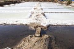 Isla Cristina-saltworks, Huelva, Spanje stock foto