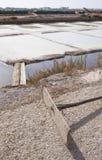 Isla Cristina-saltworks, Huelva, Spanje stock fotografie