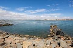 Isla Cristina van Punta DE Moral, Ayamonte, Spanje Stock Foto's