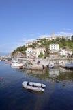 Isla Croacia de Krk de la ciudad de Vrbnik Imagen de archivo
