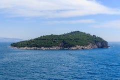 Isla Croacia de Lokrum Fotografía de archivo libre de regalías