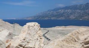 Isla Croacia del Pag Imagenes de archivo