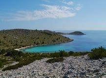 Isla croata en el mediterráneo Imagen de archivo libre de regalías