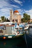 Isla de Aegina Fotos de archivo libres de regalías