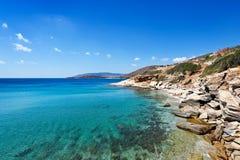 Isla de Andros, Grecia Imagen de archivo
