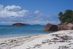 Isla de Anse Matelot Praslin de la playa, Seychelles Foto de archivo