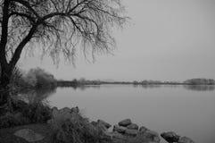 Isla de Bateman en negro y blanco Foto de archivo libre de regalías