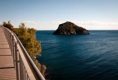 Isla de Bergeggi en Savona Italia Fotos de archivo
