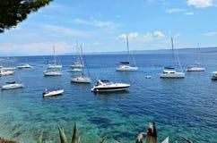 Isla de Brac - ciudad de Bol del paraíso Foto de archivo libre de regalías