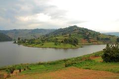 Isla de Bunyoni del lago Fotografía de archivo